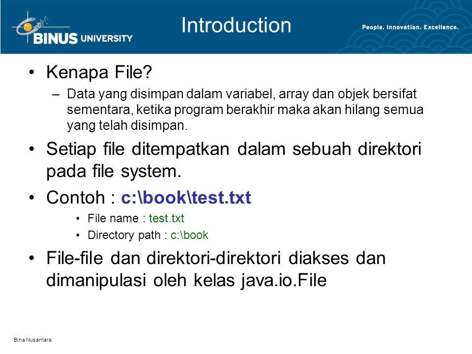 Bina Nusantara Introduction Kenapa File.