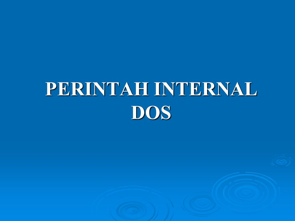 PERINTAH INTERNAL DOS
