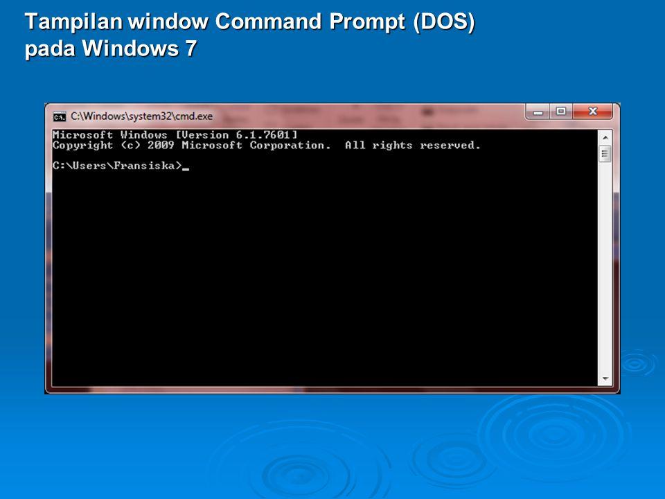 Tampilan window Command Prompt (DOS) pada Windows 7
