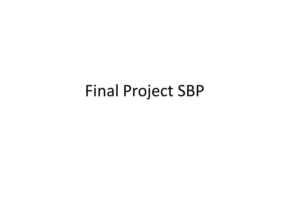 Final Project SBP