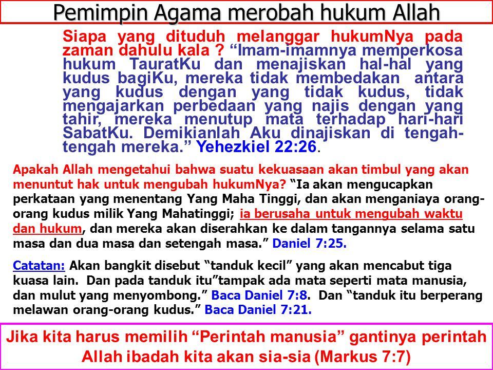 """JMS - HP 081315746066 Pemimpin Agama merobah hukum Allah Jika kita harus memilih """"Perintah manusia"""" gantinya perintah Allah ibadah kita akan sia-sia ("""