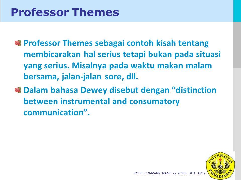 LOGO YOUR COMPANY NAME or YOUR SITE ADDRESS Professor Themes Professor Themes sebagai contoh kisah tentang membicarakan hal serius tetapi bukan pada situasi yang serius.