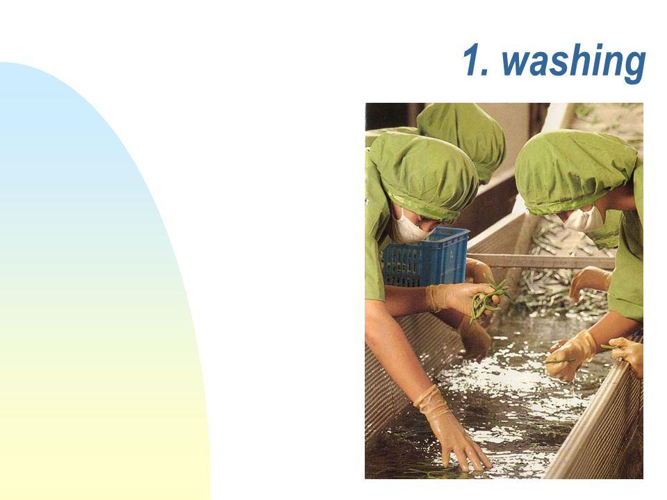 1. washing
