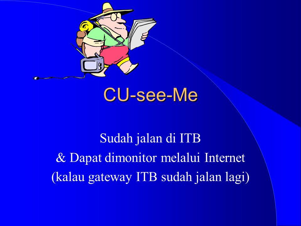 CU-see-Me Sudah jalan di ITB & Dapat dimonitor melalui Internet (kalau gateway ITB sudah jalan lagi)