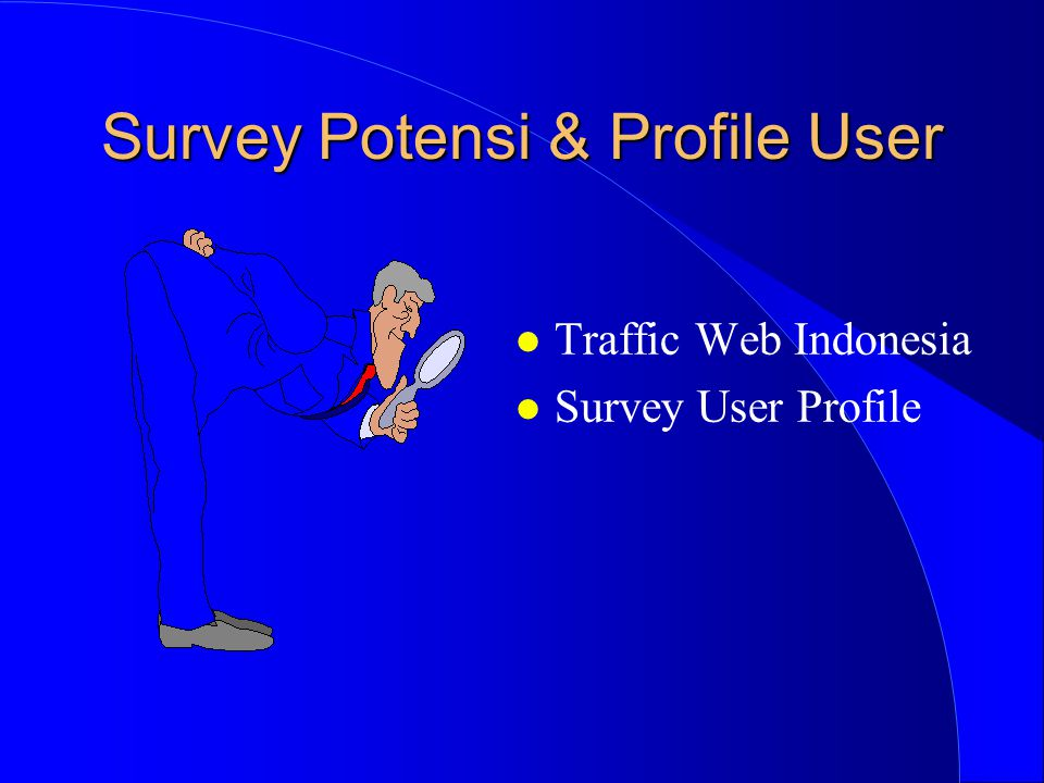 Survey Potensi & Profile User l Traffic Web Indonesia l Survey User Profile