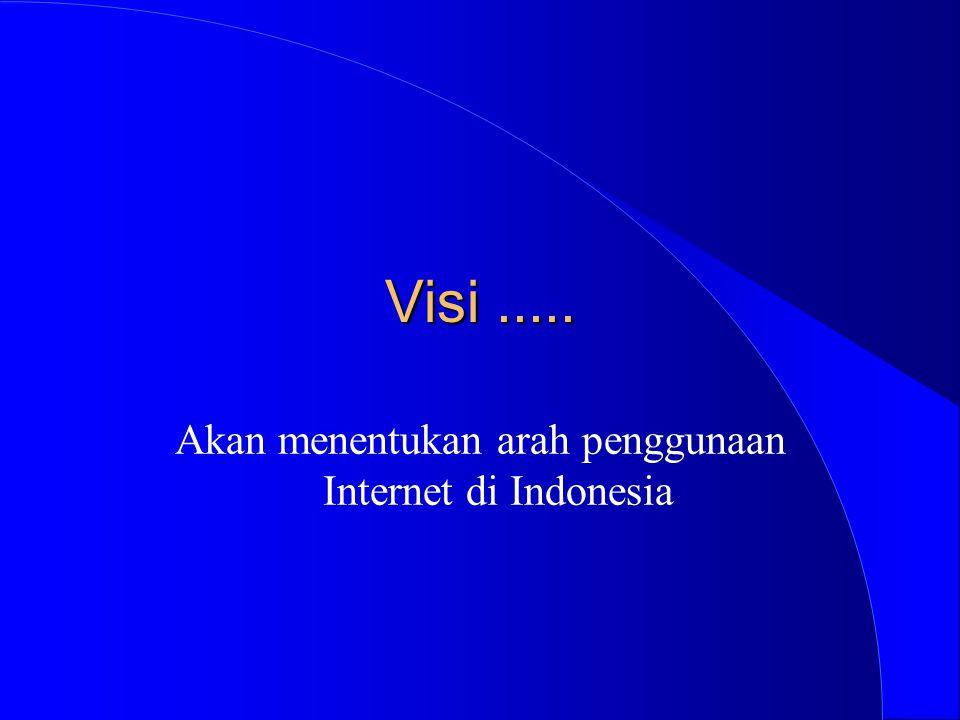 Visi..... Akan menentukan arah penggunaan Internet di Indonesia