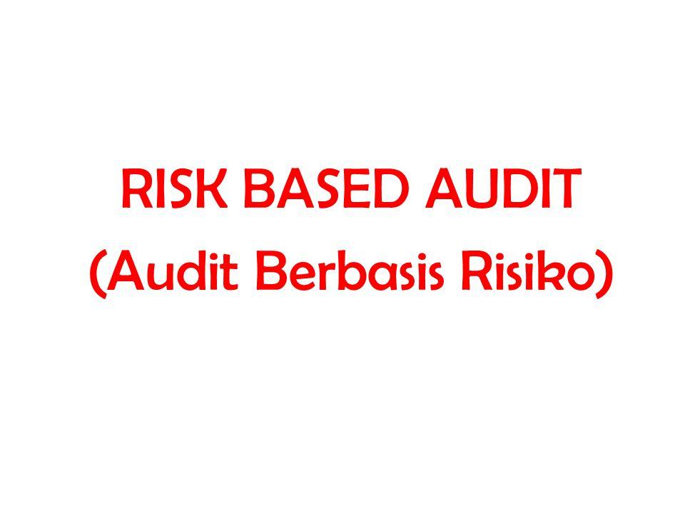RISK BASED AUDIT (Audit Berbasis Risiko)