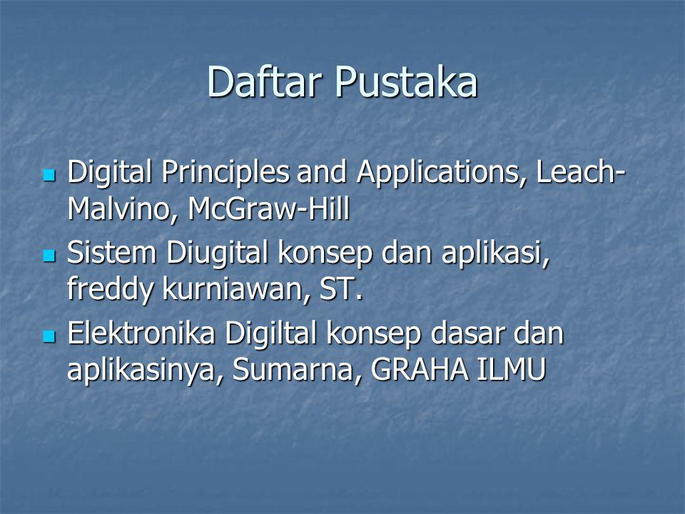 Daftar Pustaka Digital Principles and Applications, Leach- Malvino, McGraw-Hill Digital Principles and Applications, Leach- Malvino, McGraw-Hill Siste