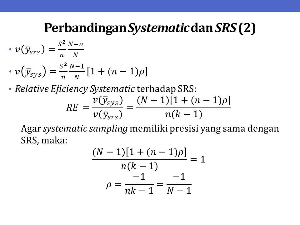 Perbandingan Systematic dan SRS (2)