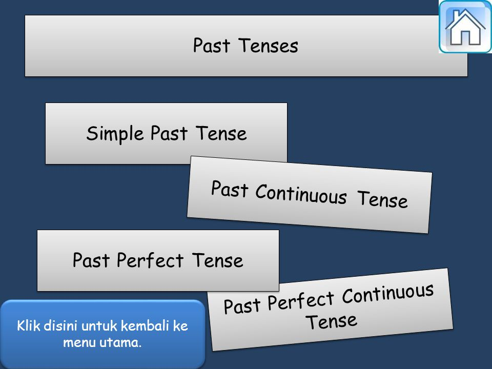 Simple Past Tense Past Continuous Tense Past Perfect Continuous Tense Past Perfect Continuous Tense Past Perfect Tense Past Tenses Klik disini untuk k