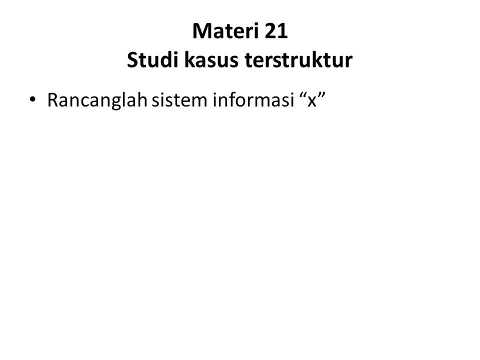 Materi 21 Studi kasus terstruktur Rancanglah sistem informasi x