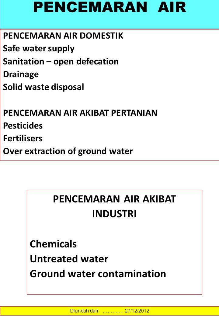 AIR & KESEHATAN The body is comprised of 75%of water.