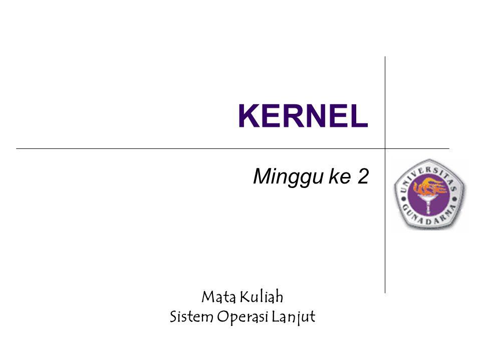 Mata Kuliah Sistem Operasi Lanjut KERNEL Minggu ke 2