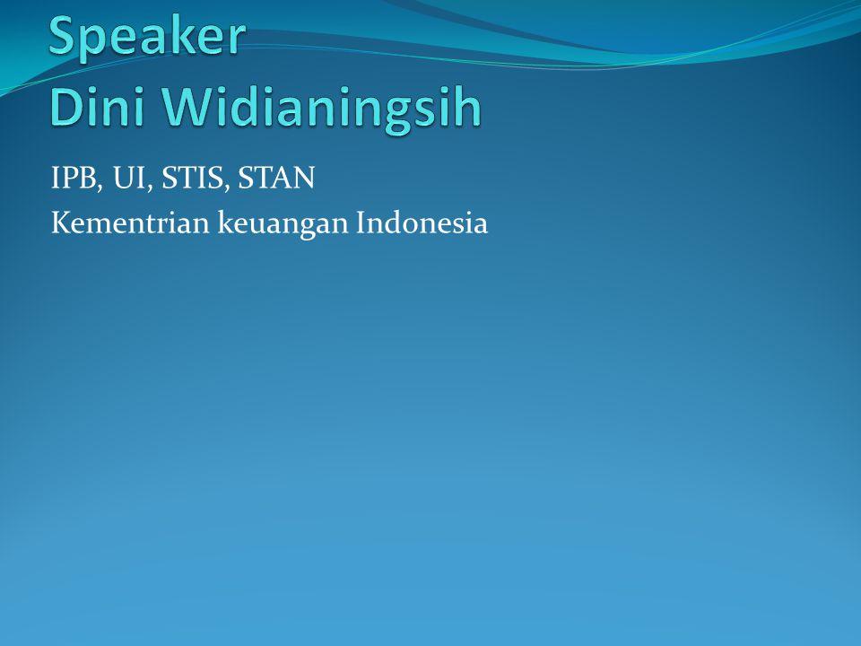 IPB, UI, STIS, STAN Kementrian keuangan Indonesia