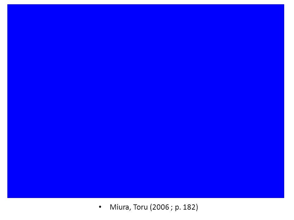 Miura, Toru (2006 ; p. 182)
