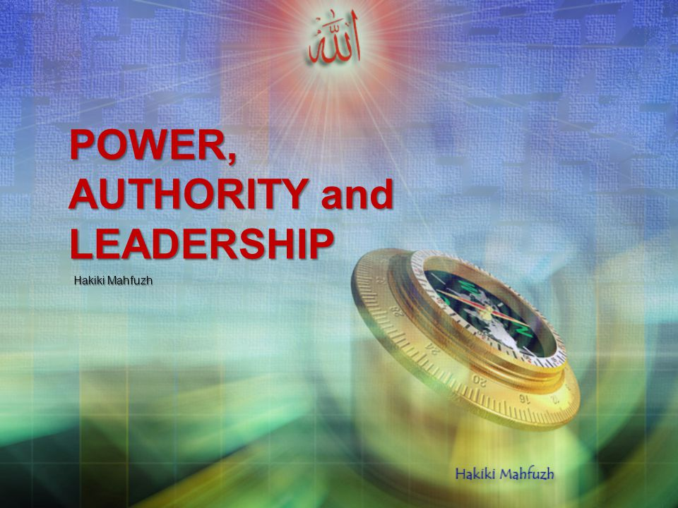 power and leadership
