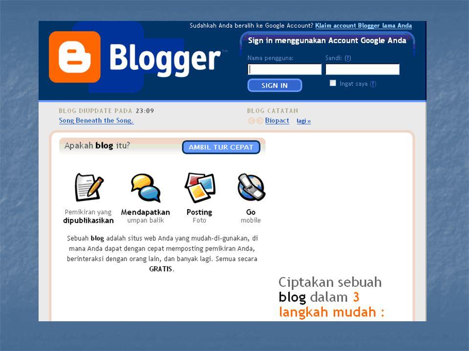 Jenis-jenis Blog Blog Politik Blog Politik http://pemilu2004.goblogmedia.com Personal Blog Personal Blog http://enda.goblogmedia.comhttp://enda.goblogmedia.com, http://didats.net.