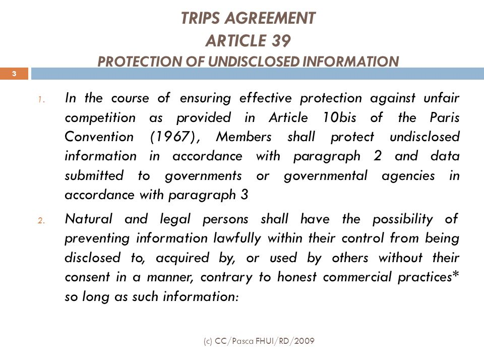  Pemegang hak rahasia dagang/penerima lisensi dapat menggugat siapa pun yang dengan sengaja & tanpa hak:  menggunakan rahasia dagang tanpa izin pemilik rahasia dagang, atau  mengungkapkan rahasia dagang kepada pihak ketiga untuk kepentingan yang bersifat komersial berupa gugatan ganti rugi, dan/atau  penghentian semua perbuatan tersebut  Gugatan diajukan ke Pengadilan Negeri 24 (c) CC/Pasca FHUI/RD/2009