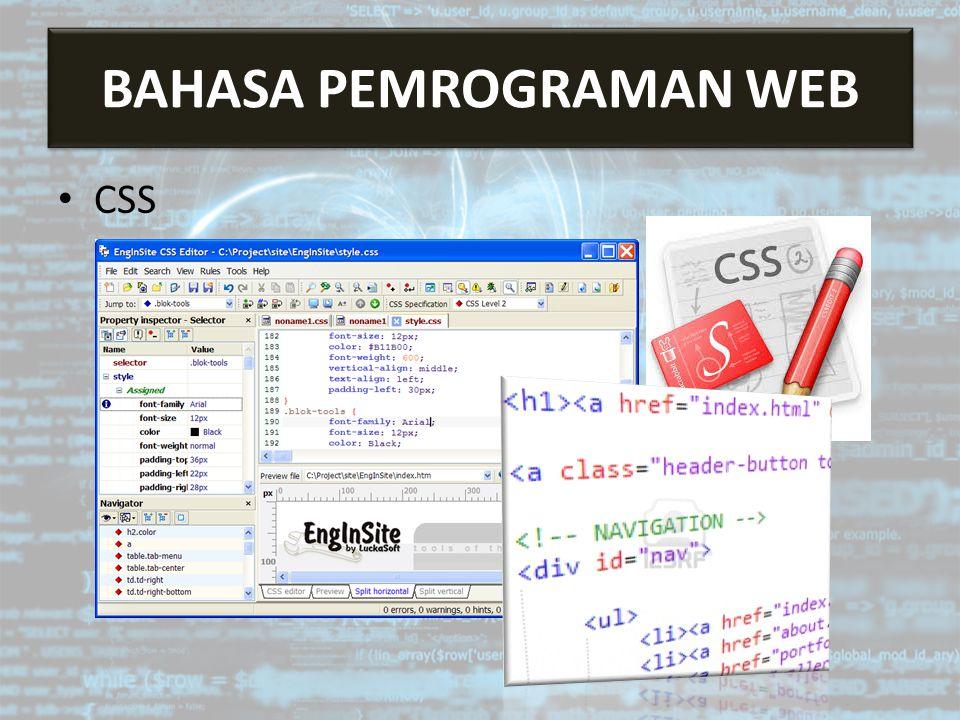 Bahasa Pemrograman Web CSS BAHASA PEMROGRAMAN WEB