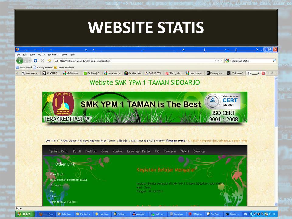 Bahasa Pemrograman Web ASP BAHASA PEMROGRAMAN WEB