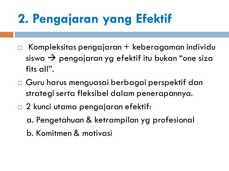 a.Ketrampilan & Pengetahuan Professional a. Penguasaan materi pelajaran.