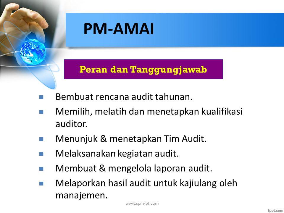 Peran dan Tanggungjawab Bembuat rencana audit tahunan.