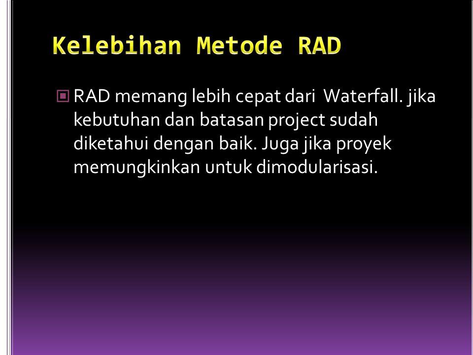 RAD memang lebih cepat dari Waterfall.