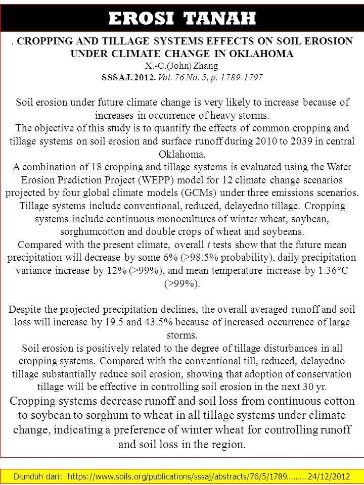Diunduh dari: https://www.soils.org/publications/sssaj/abstracts/76/5/1789……… 24/12/2012 EROSI TANAH.