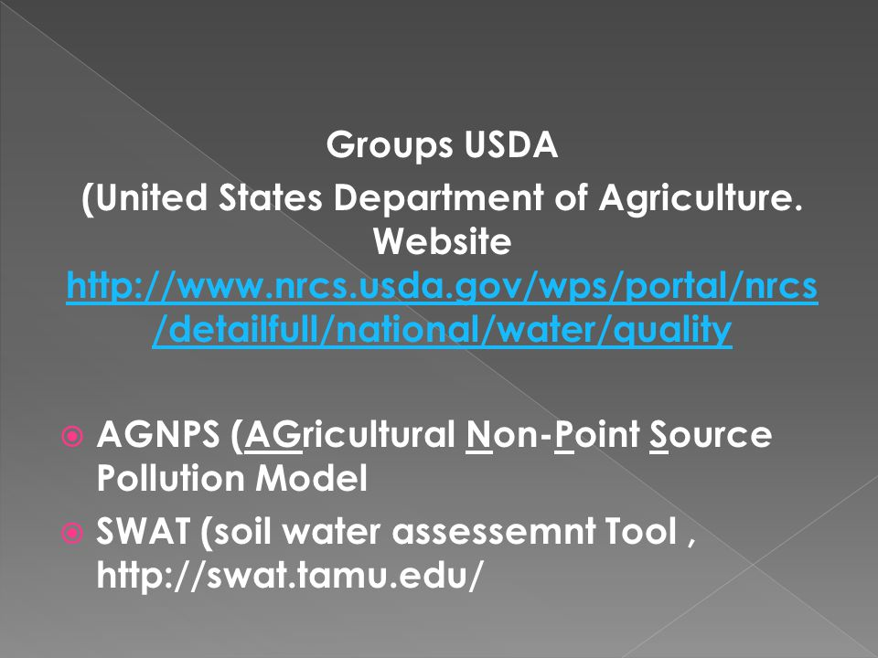 Groups USDA (United States Department of Agriculture.
