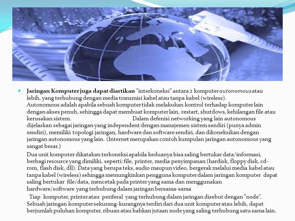 JARINGAN KOMPUTER BERDASARKAN GEOGRAFISNYA: LOCAL AREA NETWORK (LAN) METROPOLITAN AREA NETWORK (MAN) WIDE AREA NETWORK (WAN)