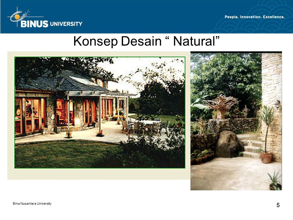 """Konsep Desain """" Natural"""" Bina Nusantara University 5"""