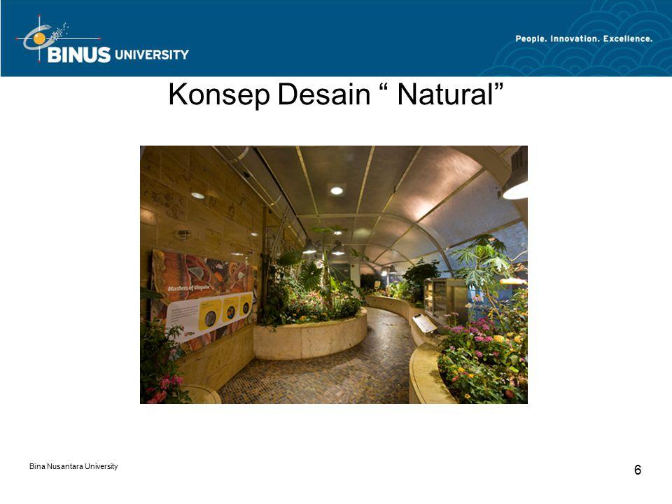 Konsep Desain Natural Bina Nusantara University 7