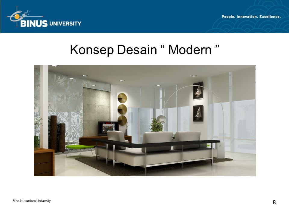 "Konsep Desain "" Modern "" Bina Nusantara University 8"