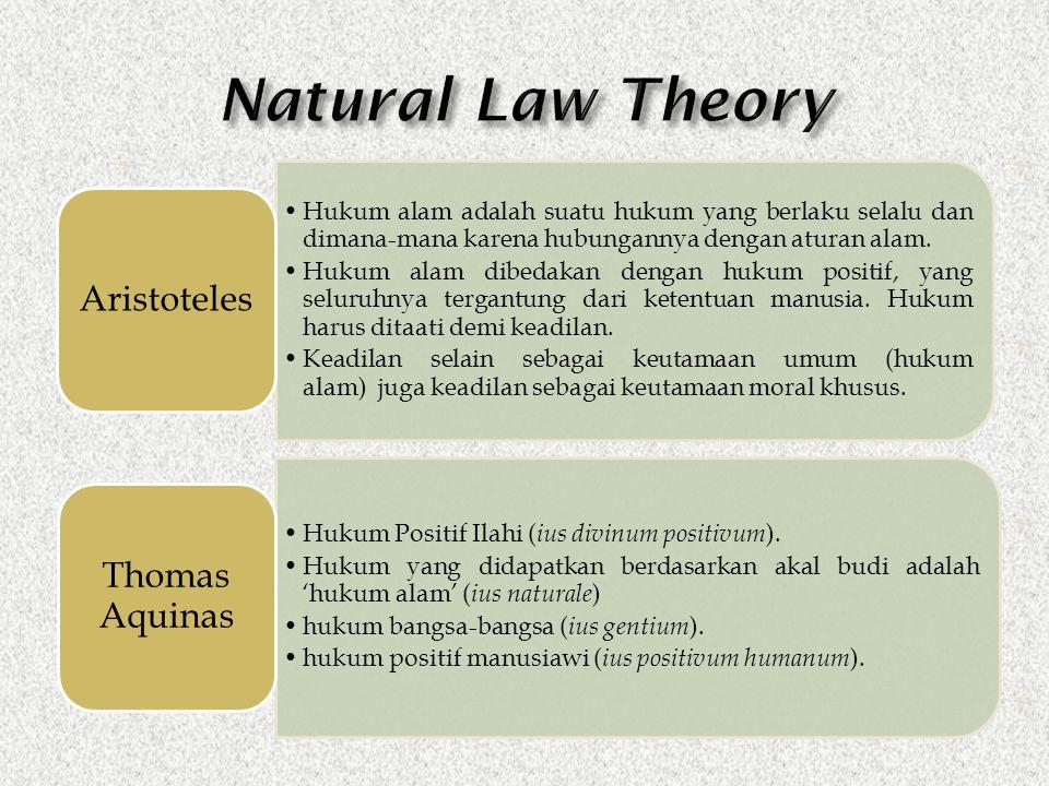 Hukum alam adalah suatu hukum yang berlaku selalu dan dimana-mana karena hubungannya dengan aturan alam. Hukum alam dibedakan dengan hukum positif, ya