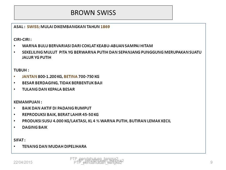 22/04/2015PTP_pendahuluan_bangsa210 BROWN SWISS
