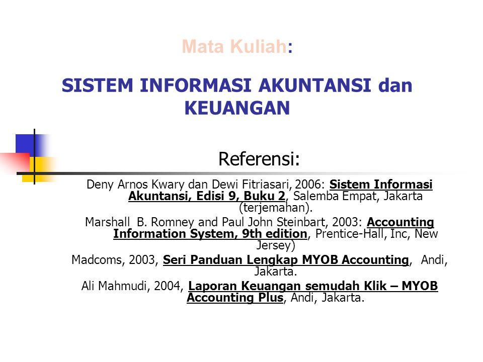 SISTEM INFORMASI AKUNTANSI dan KEUANGAN Referensi: Deny Arnos Kwary dan Dewi Fitriasari, 2006: Sistem Informasi Akuntansi, Edisi 9, Buku 2, Salemba Em