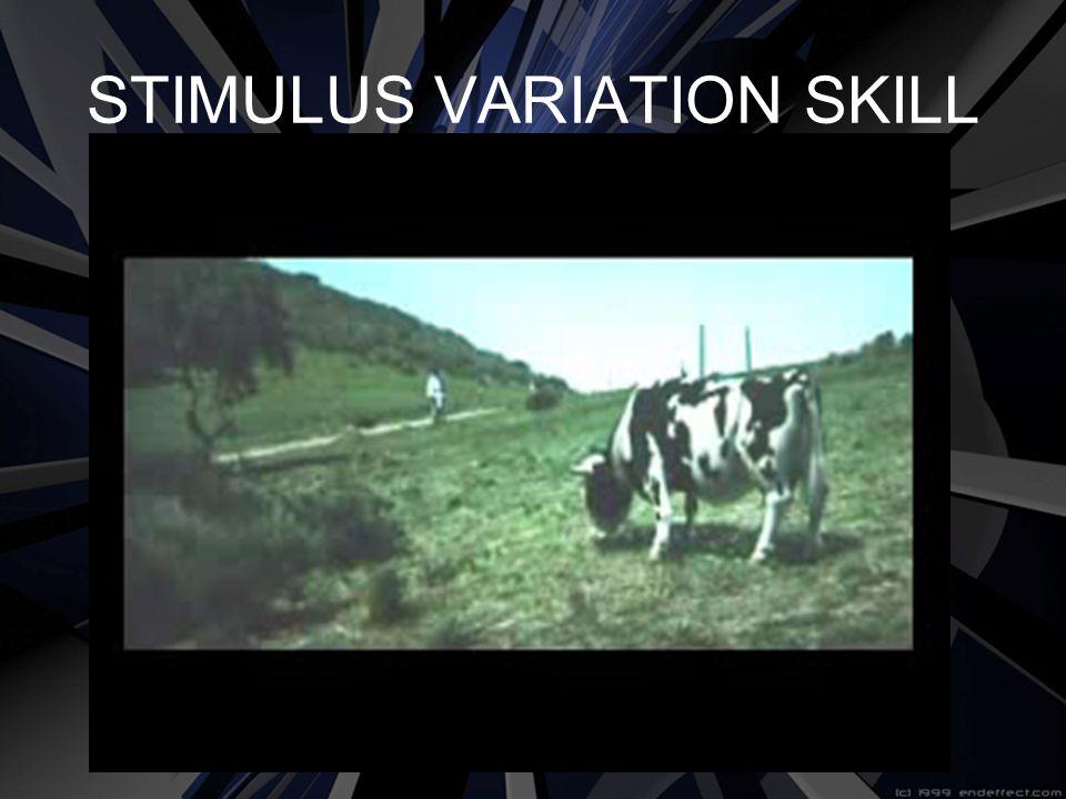 STIMULUS VARIATION SKILL