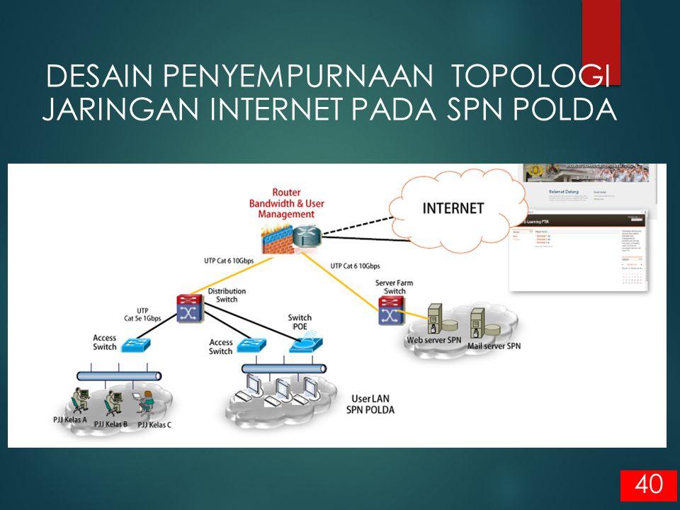 40 DESAIN PENYEMPURNAAN TOPOLOGI JARINGAN INTERNET PADA SPN POLDA