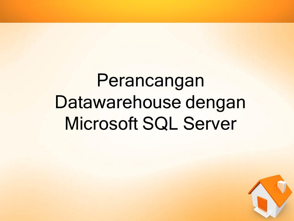 Software Datawarehouse Banyak aplikasi database yang menawarkan pengolahan dan perancangan Data Warehouse, sebagian besar didominasi oleh database yang berbau komersial, misalnya 3 contoh aplikasi database yang support untuk data warehouse, yaitu Oracle, SQL Server dan DB2.