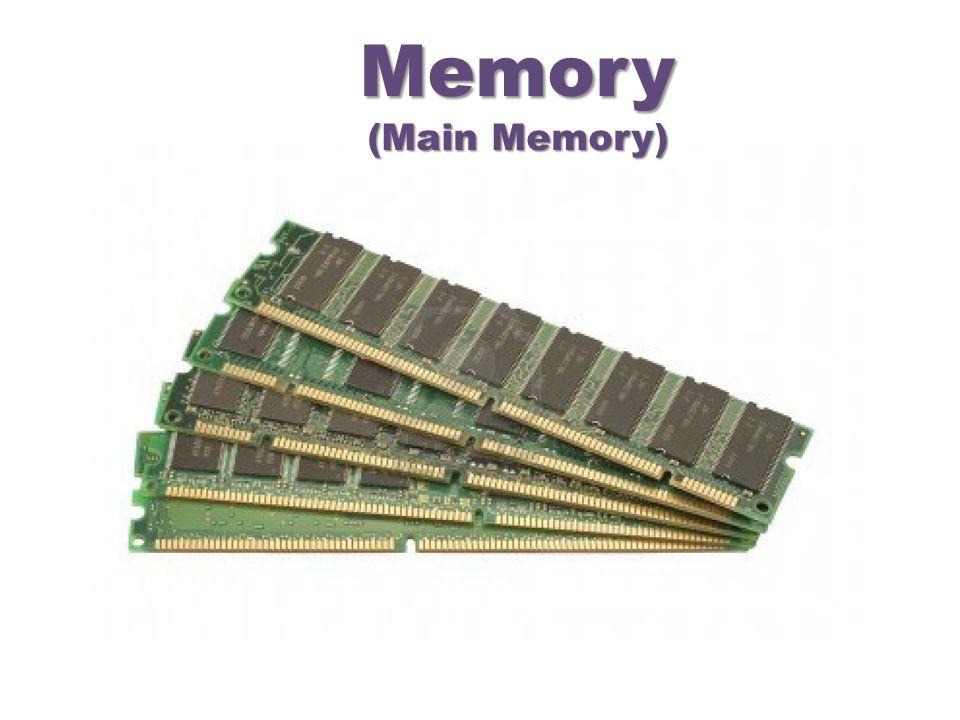 Memory (Main Memory)