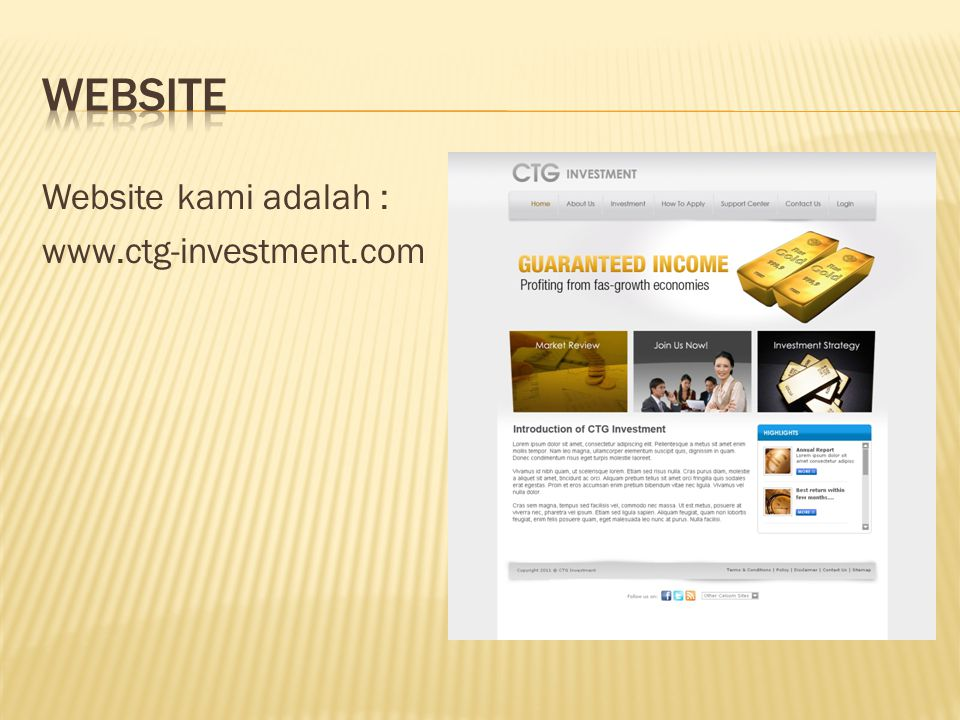 Website kami adalah : www.ctg-investment.com