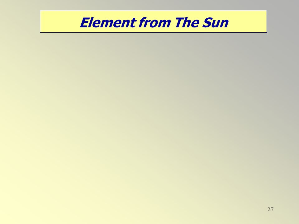 27 Element from The Sun