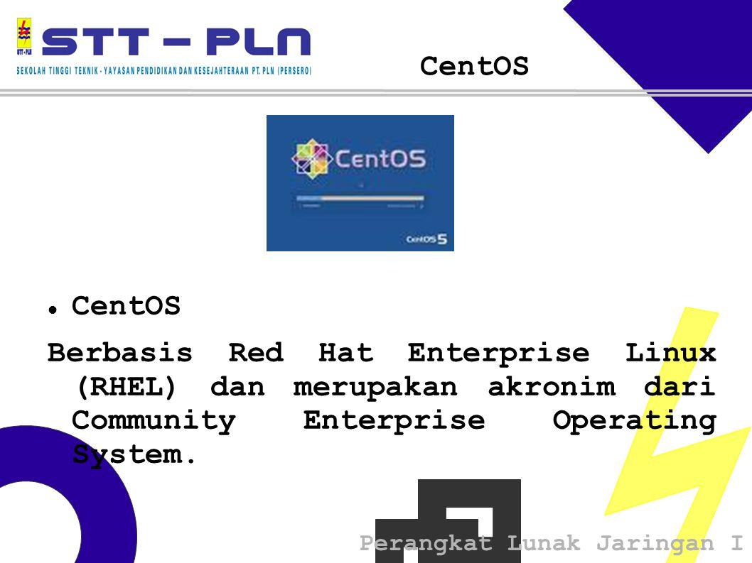 Perangkat Lunak Jaringan I CentOS Berbasis Red Hat Enterprise Linux (RHEL) dan merupakan akronim dari Community Enterprise Operating System.