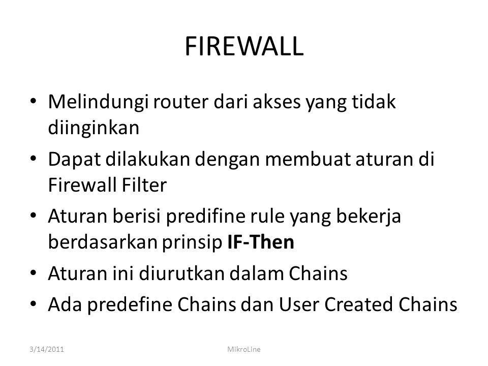 FIREWALL INPUT 3/14/2011MikroLine