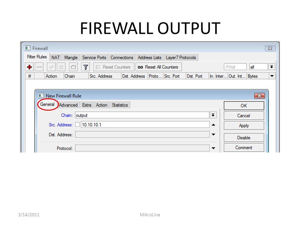 FIREWALL OUTPUT 3/14/2011MikroLine