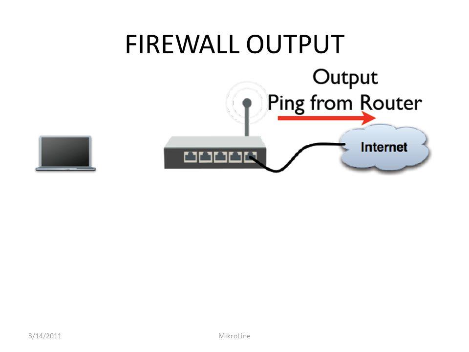 FIREWALL FORWARD Buatlah aturan Firewall Fiter Forward yang mengatur laptop untuk tidak dapat melakukan akses website ISP Router (http://10.10.10.100) tetapi dapat melakukan ping ke ISP Router dan dapat melakukan FTP ke router ISP 3/14/2011MikroLine