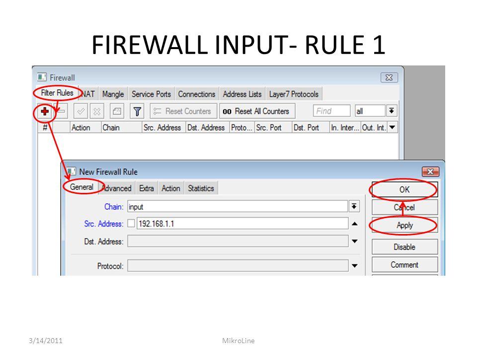 FIREWALL FORWARD 2 – RULE 2 3/14/2011MikroLine