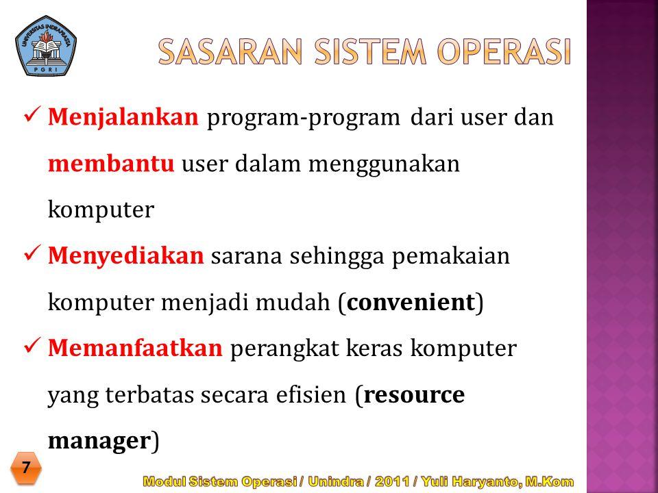  Dapat merancang sendiri atau memodifikasi sistem operasi yang telah ada sesuai kebutuhan khusus.