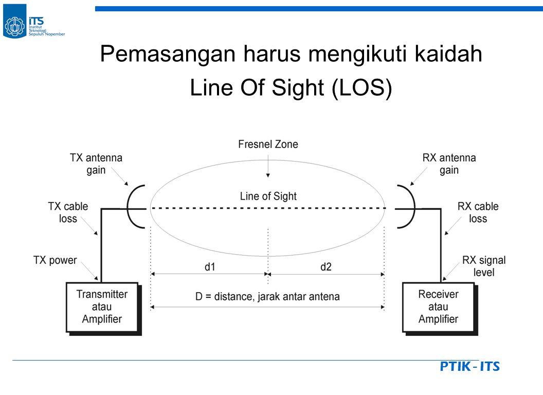 PTIK - ITS Pemasangan harus mengikuti kaidah Line Of Sight (LOS)