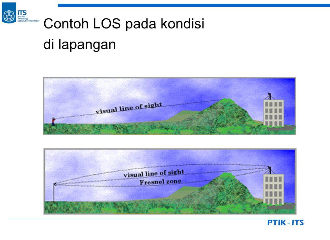 PTIK - ITS Contoh LOS pada kondisi di lapangan